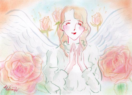 安らぎの祈りの天使
