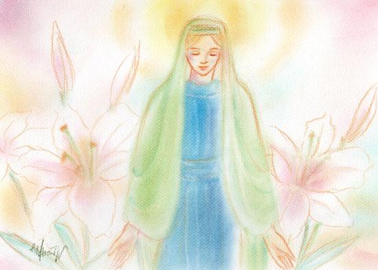 祈りを受けるマリアさま