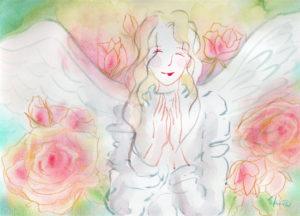 薔薇のなか、微笑む天使