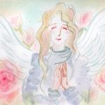 薔薇のなかで微笑む天使