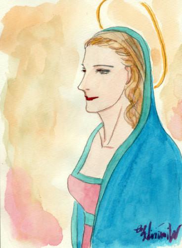 横顔のマリア