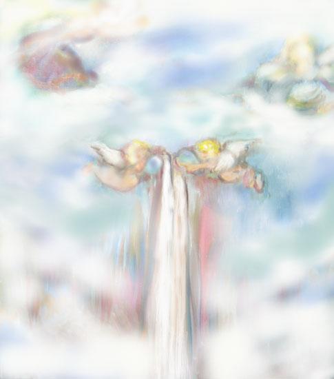水を注ぐ天使