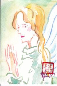 2020年10月29日の天使(昼)「微笑む天使」 4/100