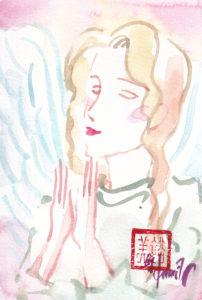 2020年10月31日(ハロウィーン・満月)の天使(夜)「尊ぶ天使」6/100-2