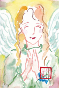 2020年11月2日の天使(夜)「微笑む天使」8/100