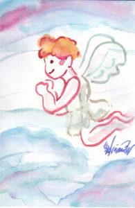 2020年11月5日の天使(夜)「空飛ぶちっちゃい天使」11/100