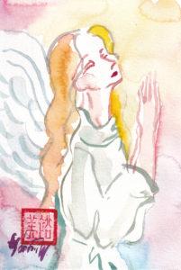 2020年11月7日の天使(夜)「仰ぎ見て祈る天使」13/100