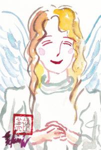 2020年11月10日の天使(夜)「微笑む天使(シンプル)」16/100