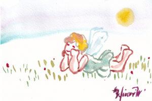 2020年12月3日の天使(夜)「ちっちゃい天使、眠いよ~。」39/100