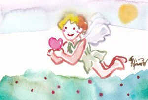 2020年12月4日の天使(夜)「ハートを運ぶ天使 2」40/100