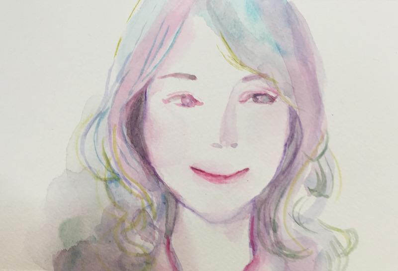 女優・七海空氏似顔絵