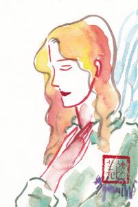 2020年12月16日の天使(夜)「横顔の祈りの天使 2」52/100