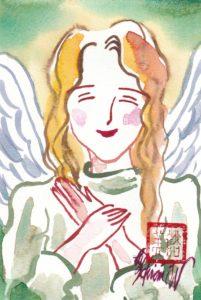2020年12月18日の天使(夜)「微笑む天使(緑)」54/100