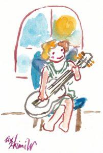 2020年12月19日の天使(夜)「ギターを弾くちっちゃい天使」55/100