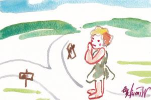 2020年12月23日の天使(夜)「分かれ道」59/100