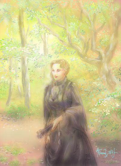 晩秋・黒いドレス~エリザベート・イメージ~