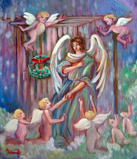 クリスマス、雪の降る日の大天使たち♪